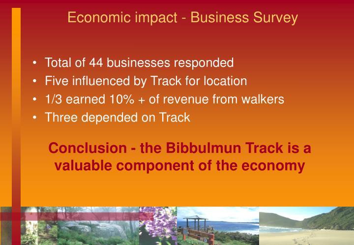 Economic impact - Business Survey