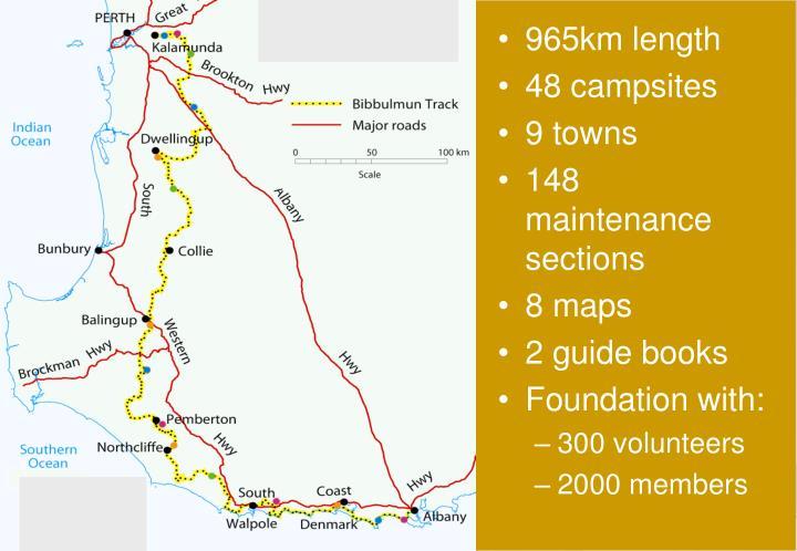 965km length