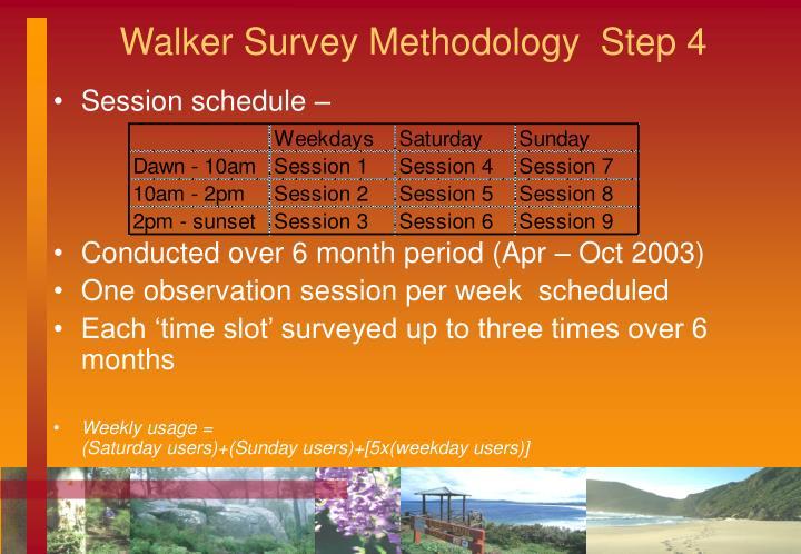 Walker Survey Methodology  Step 4