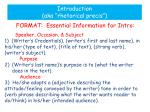 introduction aka rhetorical precis