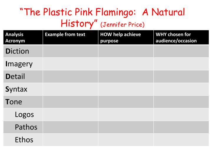 """The Plastic Pink Flamingo:  A Natural History"""