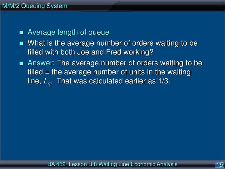 M/M/2 Queuing System