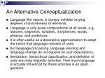 an alternative conceptualization