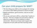 can your child prepare for map