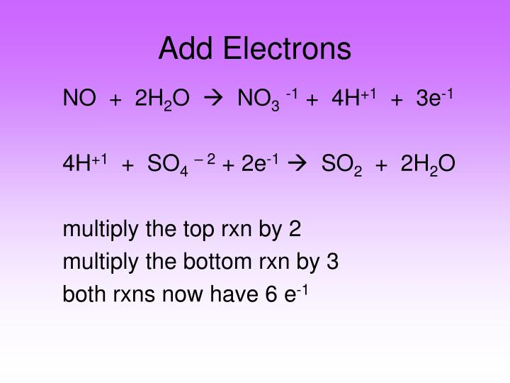 Add Electrons