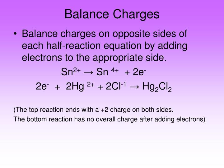 Balance Charges