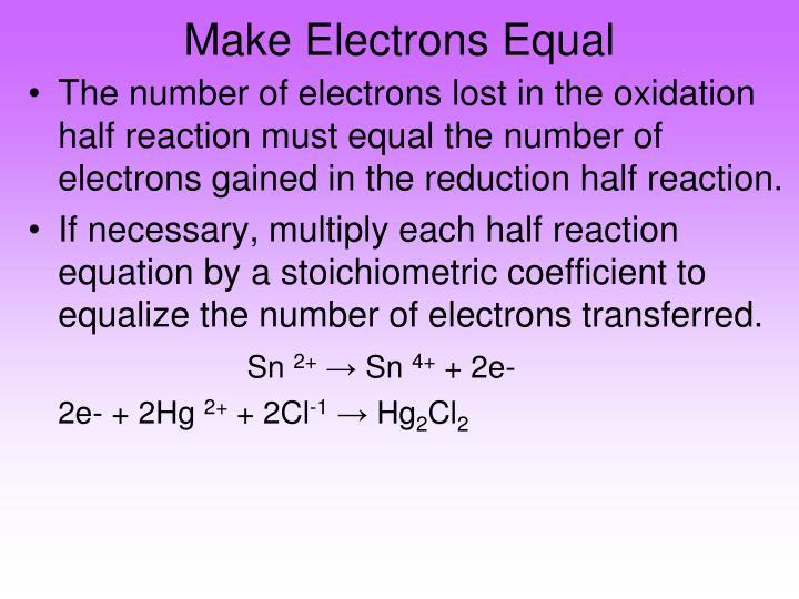 Make Electrons Equal