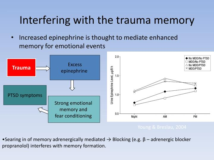 Interfering with the trauma memory