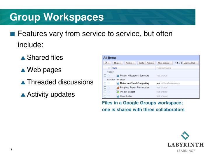 Group Workspaces