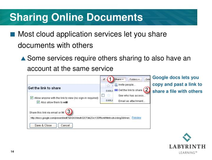 Sharing Online Documents