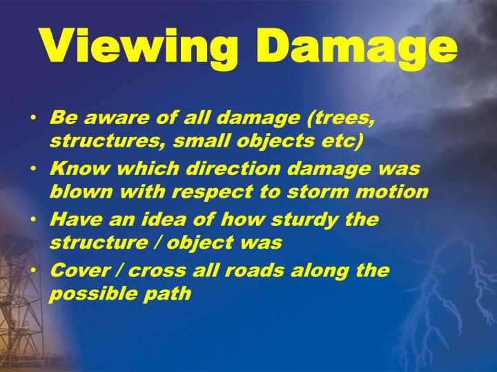 Viewing damage