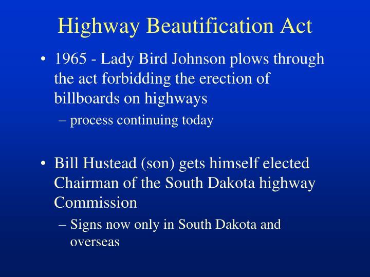 Highway Beautification Act