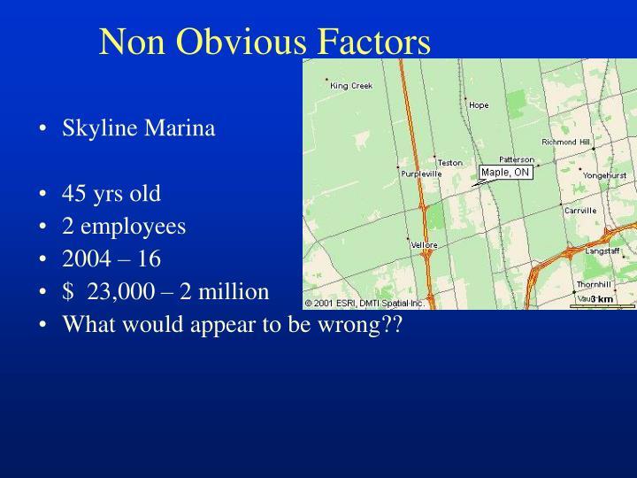 Non Obvious Factors