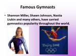 famous gymnasts