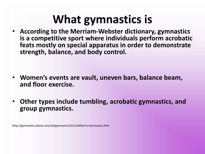 What gymnastics is