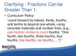 clarifying fractions can be greater than 1