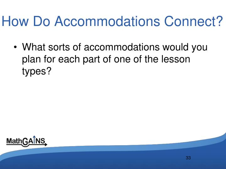 How Do Accommodations Connect?