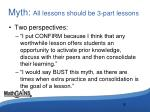 myth all lessons should be 3 part lessons