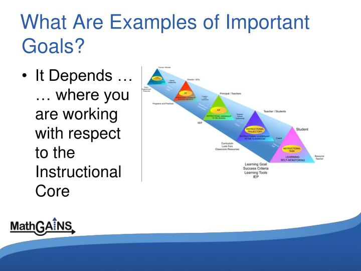 What Are Examples of Important Goals?