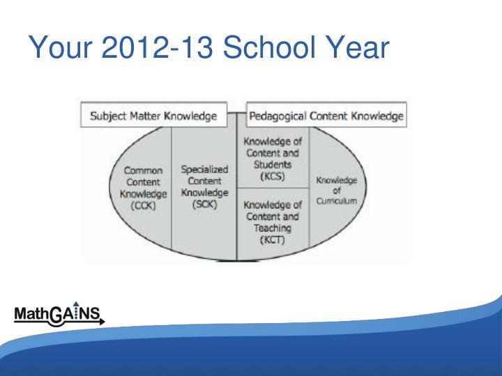 Your 2012-13 School Year