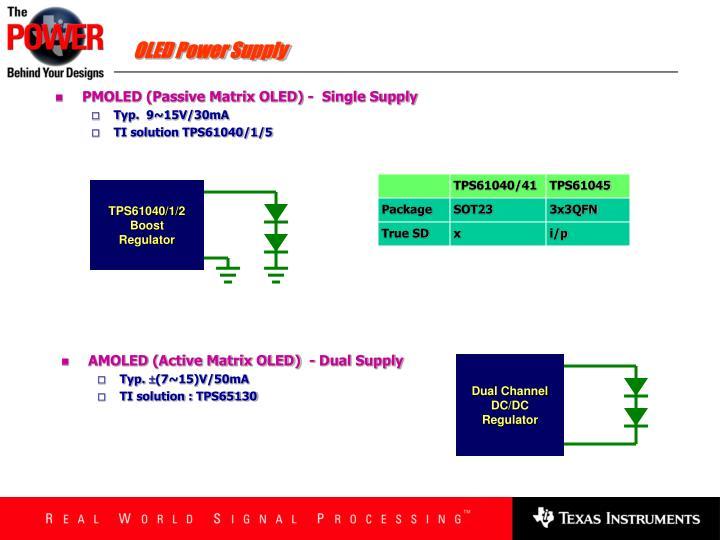 OLED Power Supply