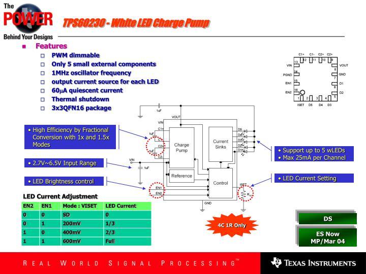 TPS60230 - White LED Charge Pump