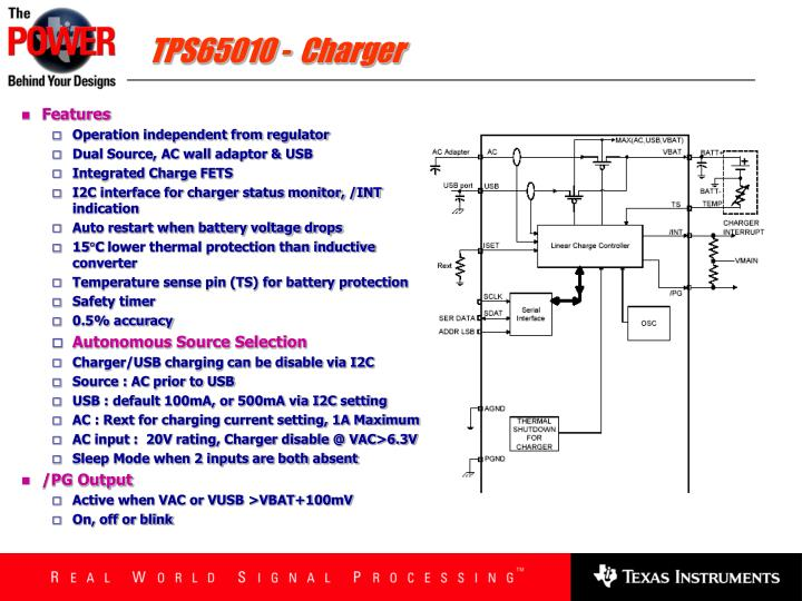TPS65010 -  Charger