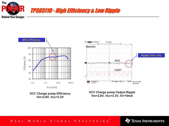 TPS65110 - High Efficiency & Low Ripple