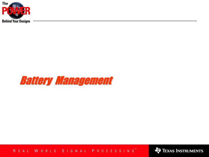 Battery  Management