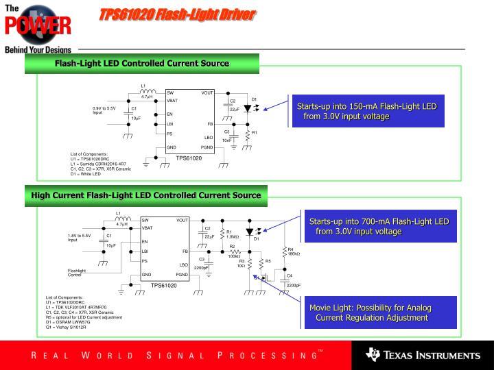 TPS61020 Flash-Light Driver