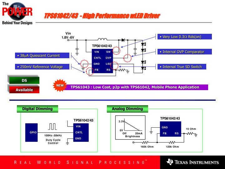 TPS61042/43  - High Performance wLED Driver