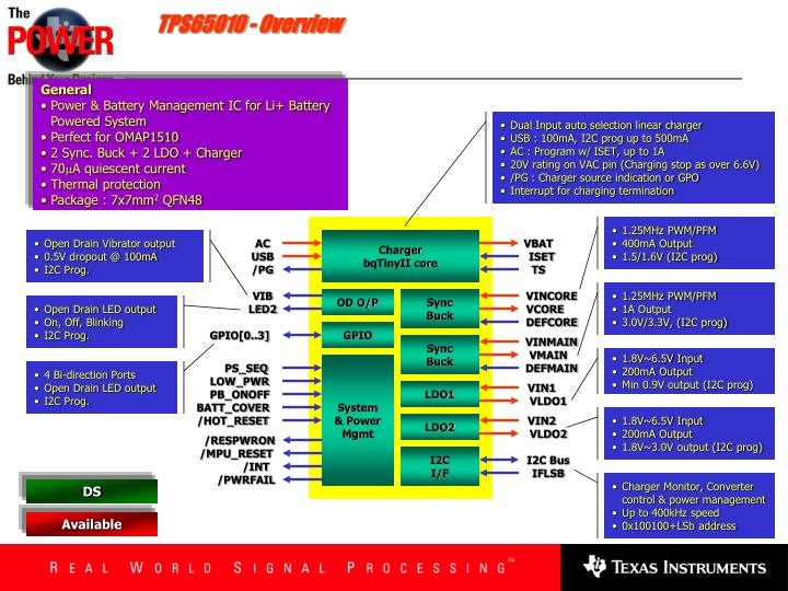 TPS65010 - Overview