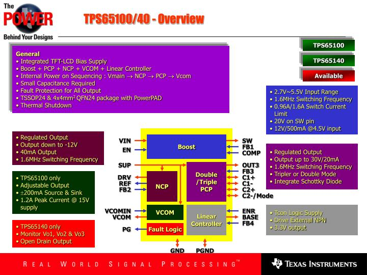TPS65100/40 - Overview