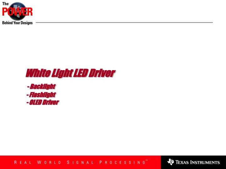 White Light LED Driver