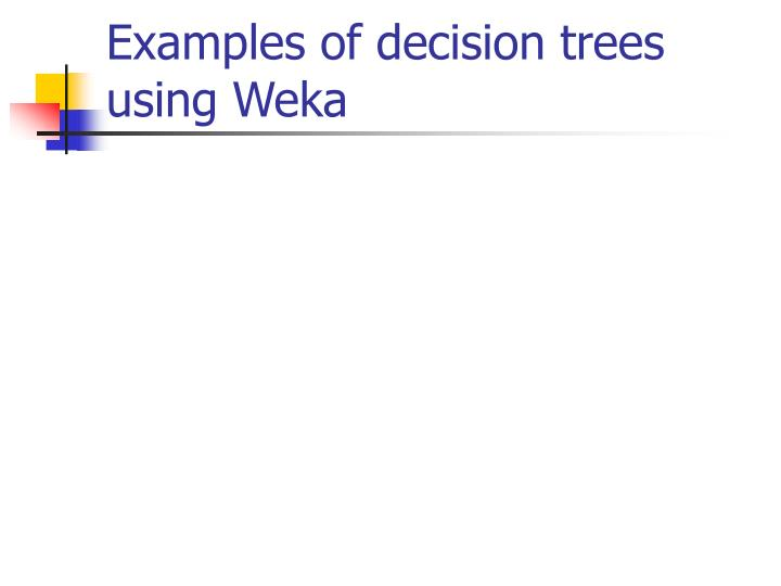 Examples of decision trees
