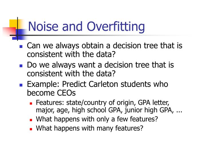 Noise and Overfitting