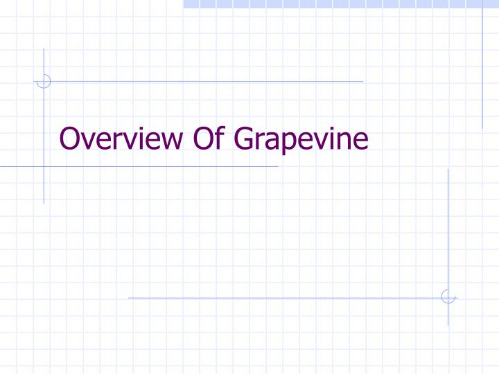 Overview Of Grapevine