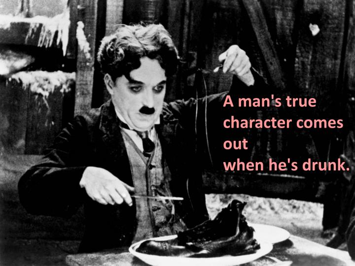 A man's true character comes out