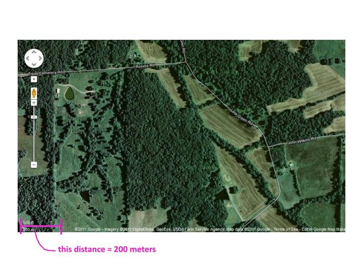 this distance = 200 meters