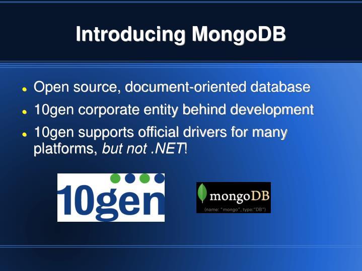 Introducing MongoDB