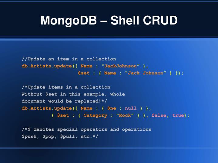MongoDB – Shell CRUD