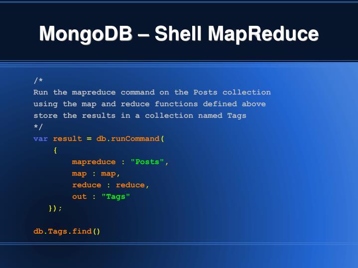 MongoDB – Shell MapReduce