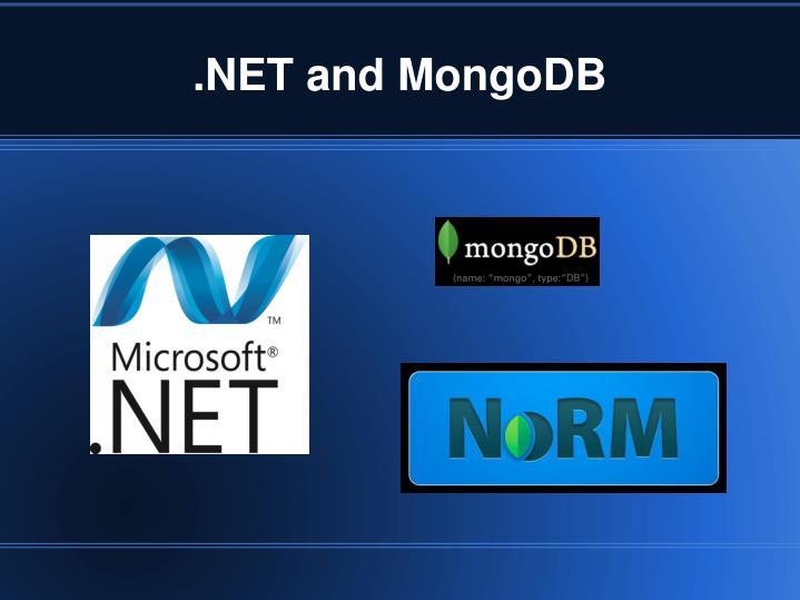 .NET and MongoDB