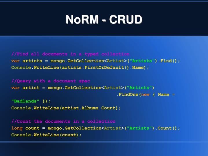 NoRM - CRUD