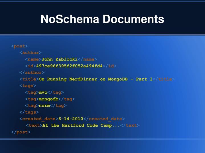 NoSchema Documents