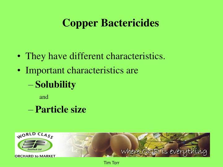 Copper Bactericides