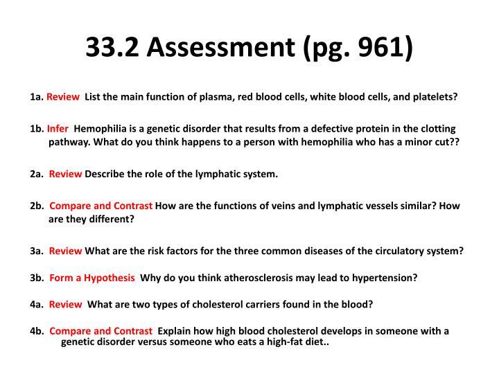 33.2 Assessment (pg. 961)