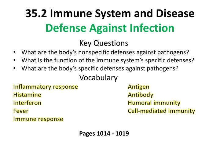 35.2 Immune System and Disease