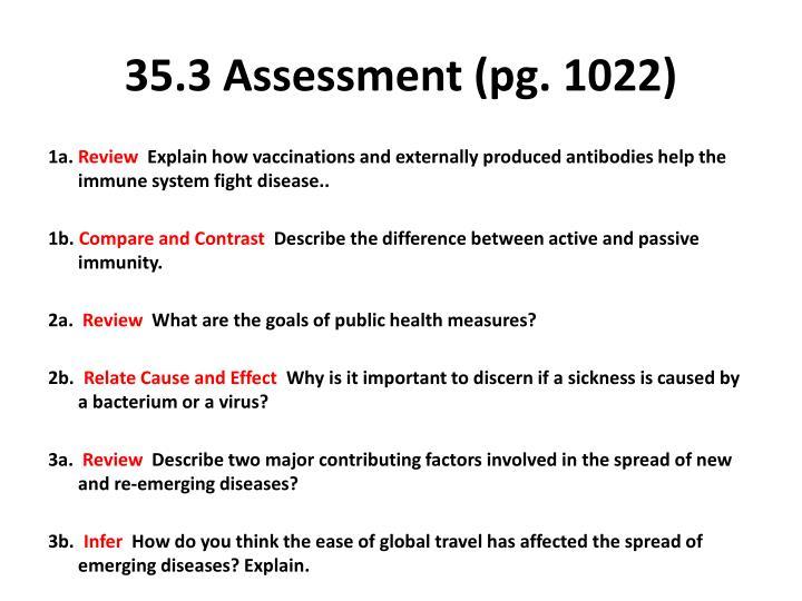 35.3 Assessment (pg. 1022)