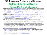 35 3 immune system and disease fighting infectious disease new and re emerging diseases2